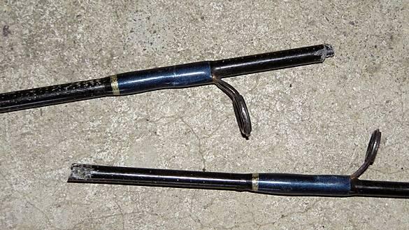 broken carp rod