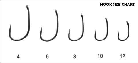 carp hook sizes