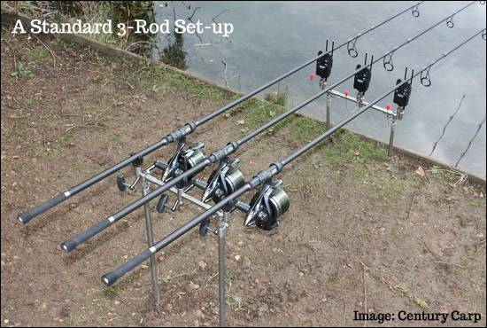Basic 3 Rod Carp Setup
