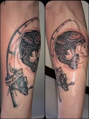 Carp Rod Tattoo