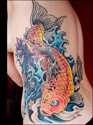 Cool Koi Carp Tattoo