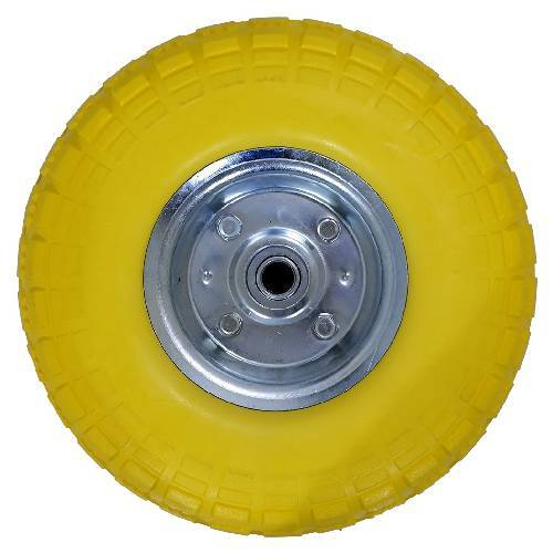 Voche 2 X 10 Puncture Burst Proof Solid Rubber Sack Truck Trolley Wheels